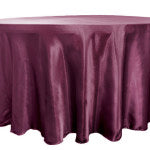 Sangria Satin Tablecloth