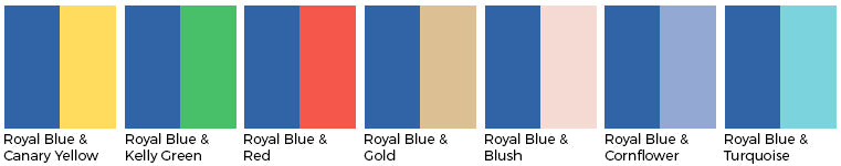 Royal Blue wedding color wedding linens