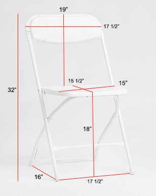Samsonite Folding Chair Dimensions