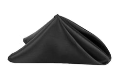 "Satin Napkin 20""x20"" - Black"