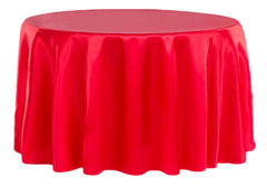 Satin 108″ Round Tablecloth – Red