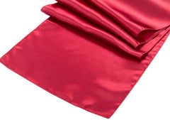 Satin Table Runner – Burgundy