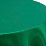 Emerald Satin Round Table Cover