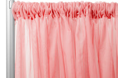 "Sheer Voile 8ft H x 118"" W drape/backdrop - Coral"