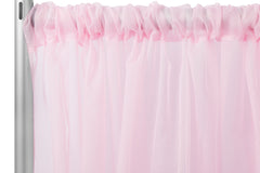 "Sheer Voile 8ft H x 118"" W drape/backdrop - Pink"