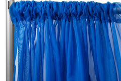 "Sheer Voile 10ft H x 118"" W drape/backdrop - Royal Blue"