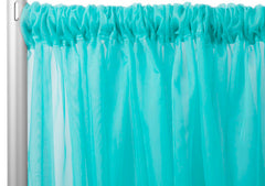 Sheer Voile 12ft H x 118″ W drape/backdrop – Turquoise