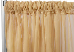 Sheer Voile 8ft H x 118″ W drape/backdrop – Gold