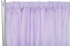 "Sheer Voile 8ft H x 118"" W drape/backdrop - Lavender"