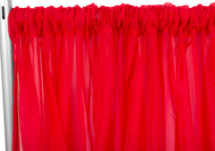Sheer Voile drape/backdrop – Red