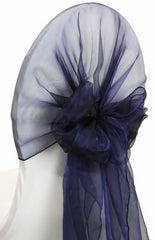 Snow Organza Chair Caps/Hoods – Navy Blue