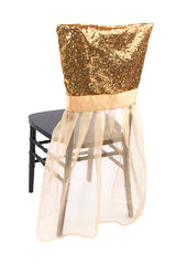 Sparkle Glitz Sequin Chiavari Chair Slip Cover - Gold