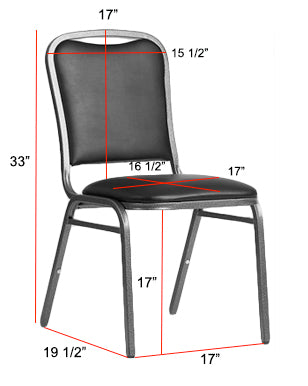 Square Top Banquet Chair Dimensions