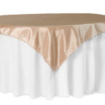 Champagne Taffeta Square Tablecloth