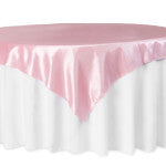 Pink Taffeta Square Tablecloth