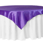 Purple Taffeta Square Tablecloth