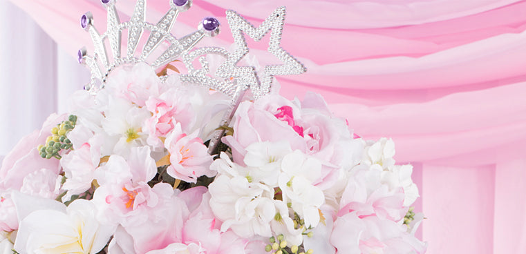 Tiara and Tutu Baby Shower with cheap tablecloths
