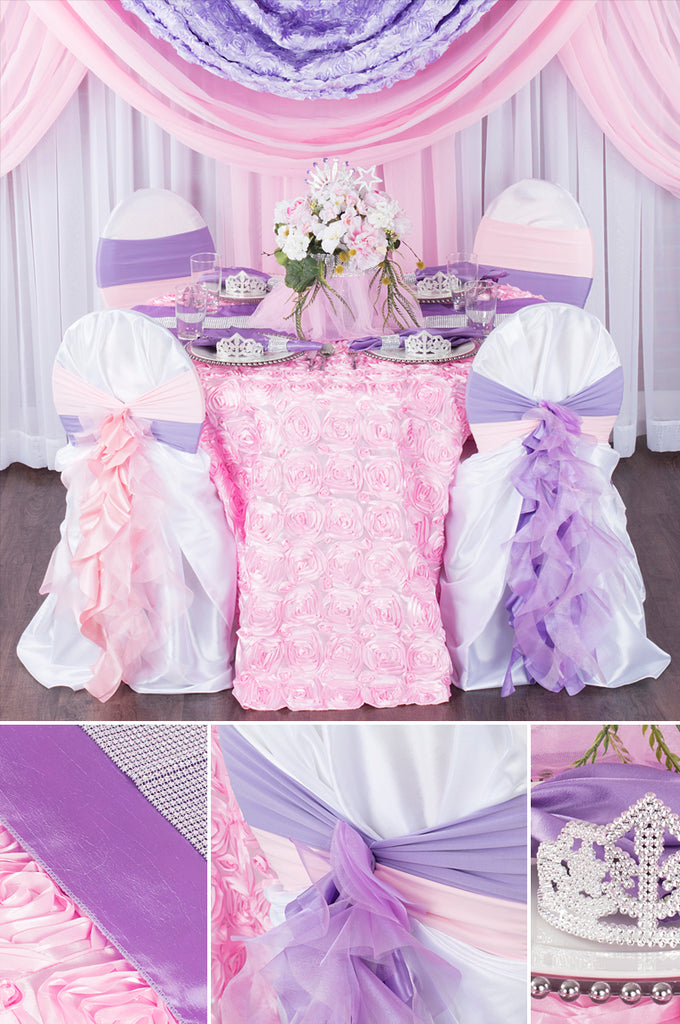Tiara and Tutu Baby Shower with cheap tablecloths and affordable linens