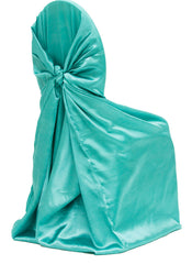 Universal Satin Self Tie Chair Cover - Light Turquoise