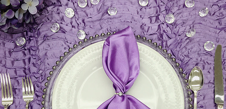 wave satin tablecloth