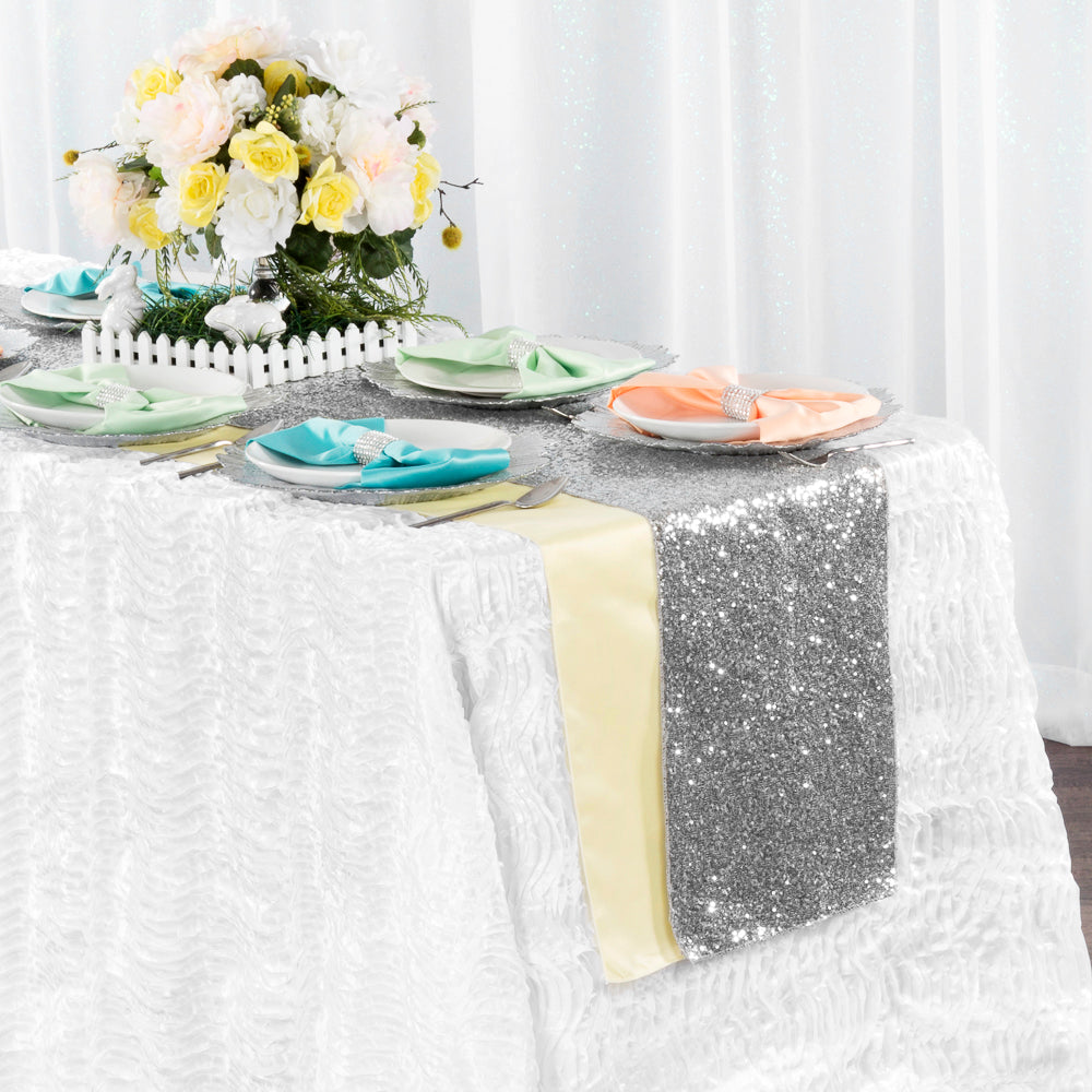white wholesale tablecloth Table Linens napkins table overlays and table runners