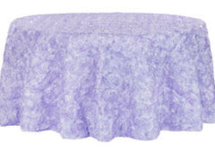 Wedding Rosette SATIN 120″ Round Tablecloth – Lavender