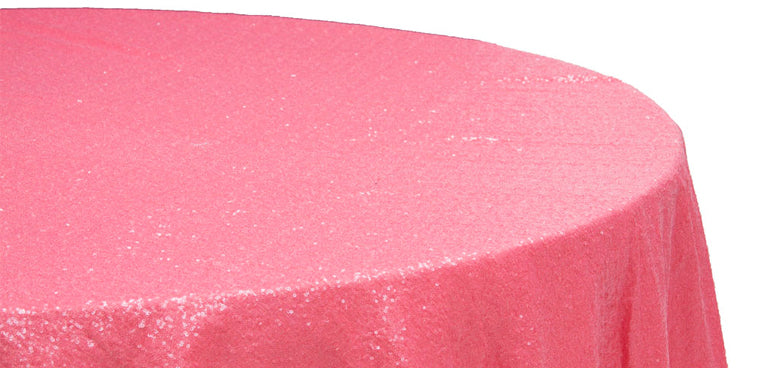 Coral Sequins Tablecloth