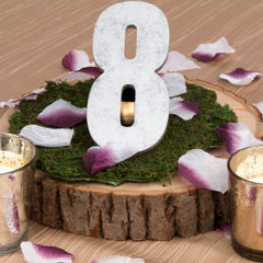 4 Step Guide to DIY Wedding Centerpieces rustic table numbers