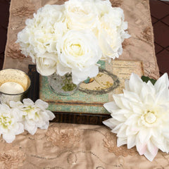 4 Step Guide to DIY Wedding Centerpieces vintage rustic flowers