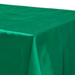 Emerald Satin Rectangular Tablecloth