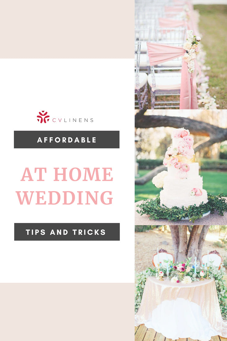 Secret to Affordable Home Wedding Decorations Pinterest