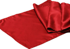Lamour Satin Table Runner – Apple Red