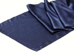 Lamour Satin Table Runner – Navy Blue