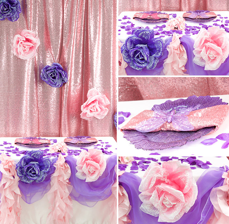 Pink and Purple Enchanted Garden Party Collage