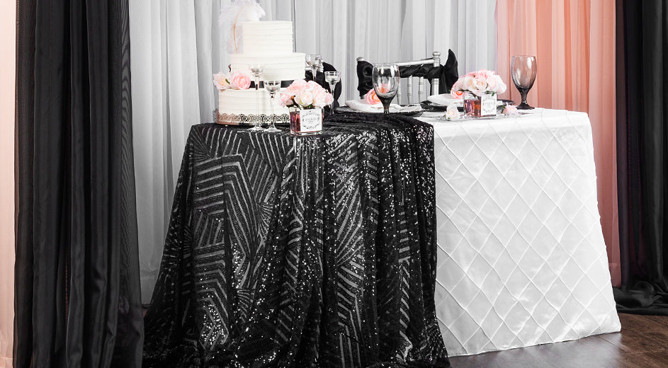 Geometric Sequin Gatsby Wedding Table Decorations