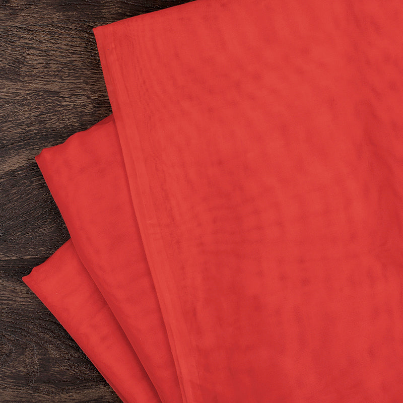 "10 yds x 118"" Voile Sheer Fabric - Red"