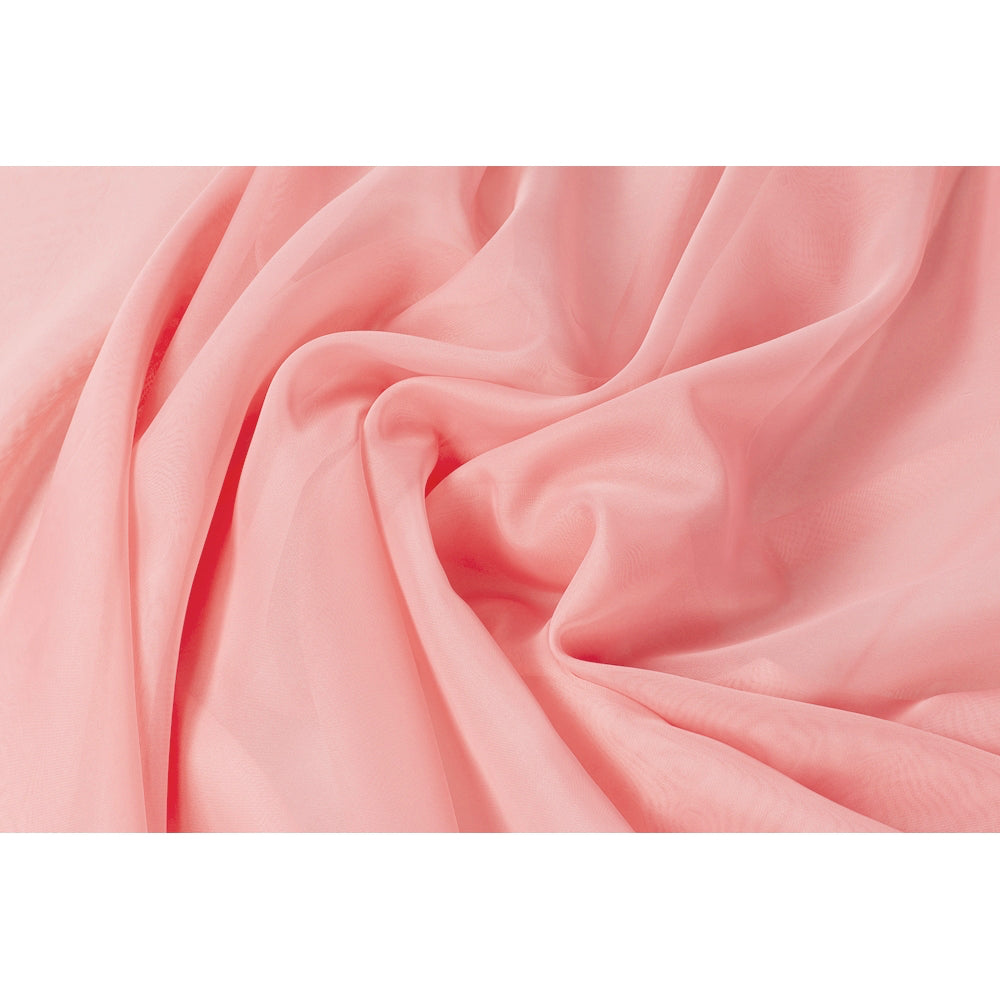"10 yds x 118"" Voile Sheer Fabric - Coral"