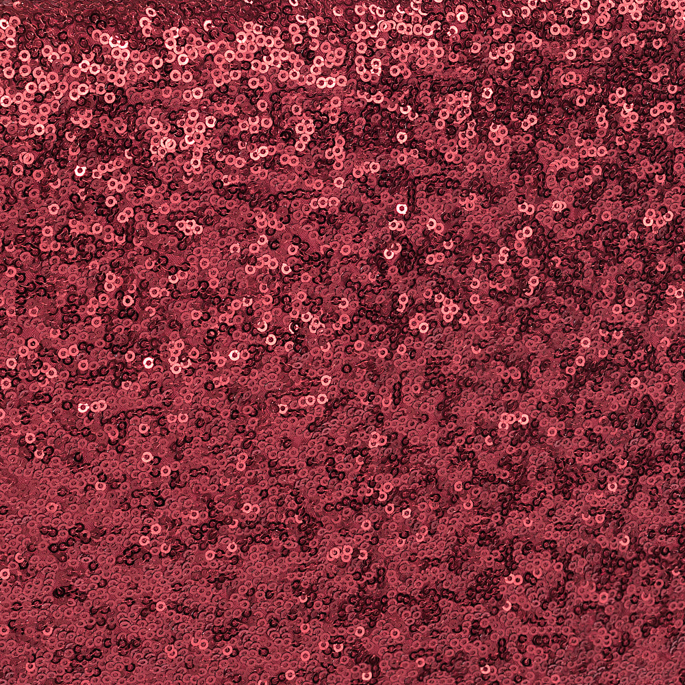 10 yards GLITZ Sequins Fabric Bolt - Burgundy