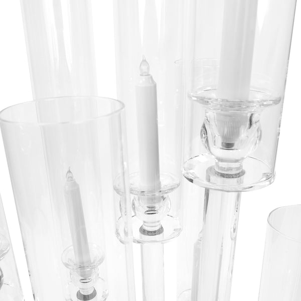 41 Quot Tall 10 Arm Crystal Glass Candle Holder Candelabra