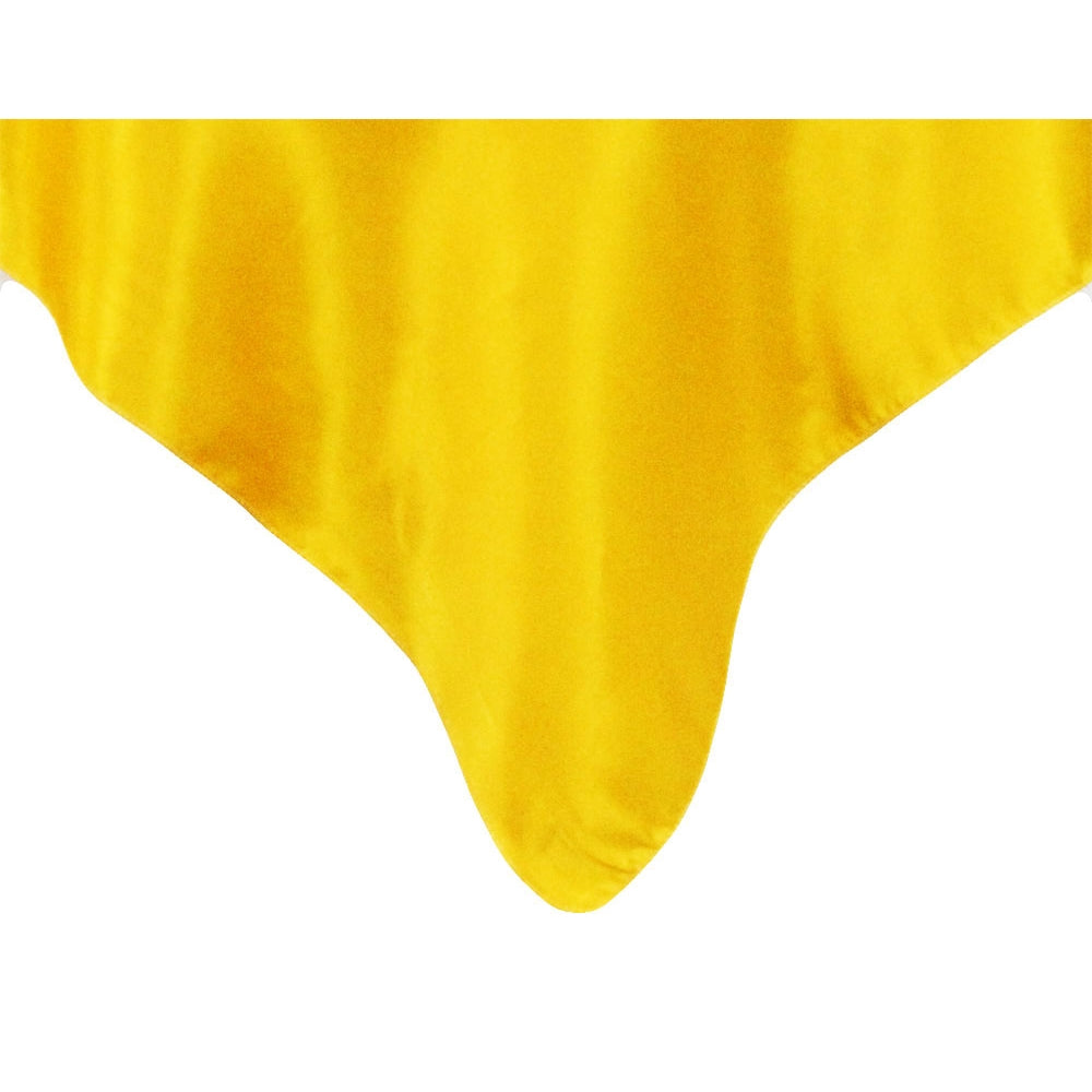 "Square 54"" Satin Table Overlay - Canary Yellow (Bright Yellow)"