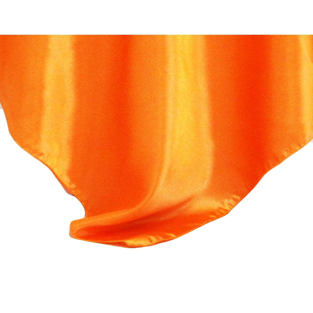 "Square 54"" Satin Table Overlay - Orange"