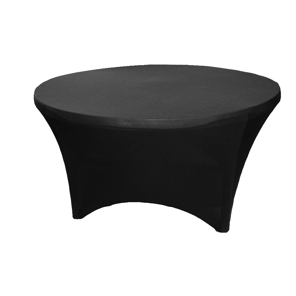 5FT Round Spandex Table Cover - Black