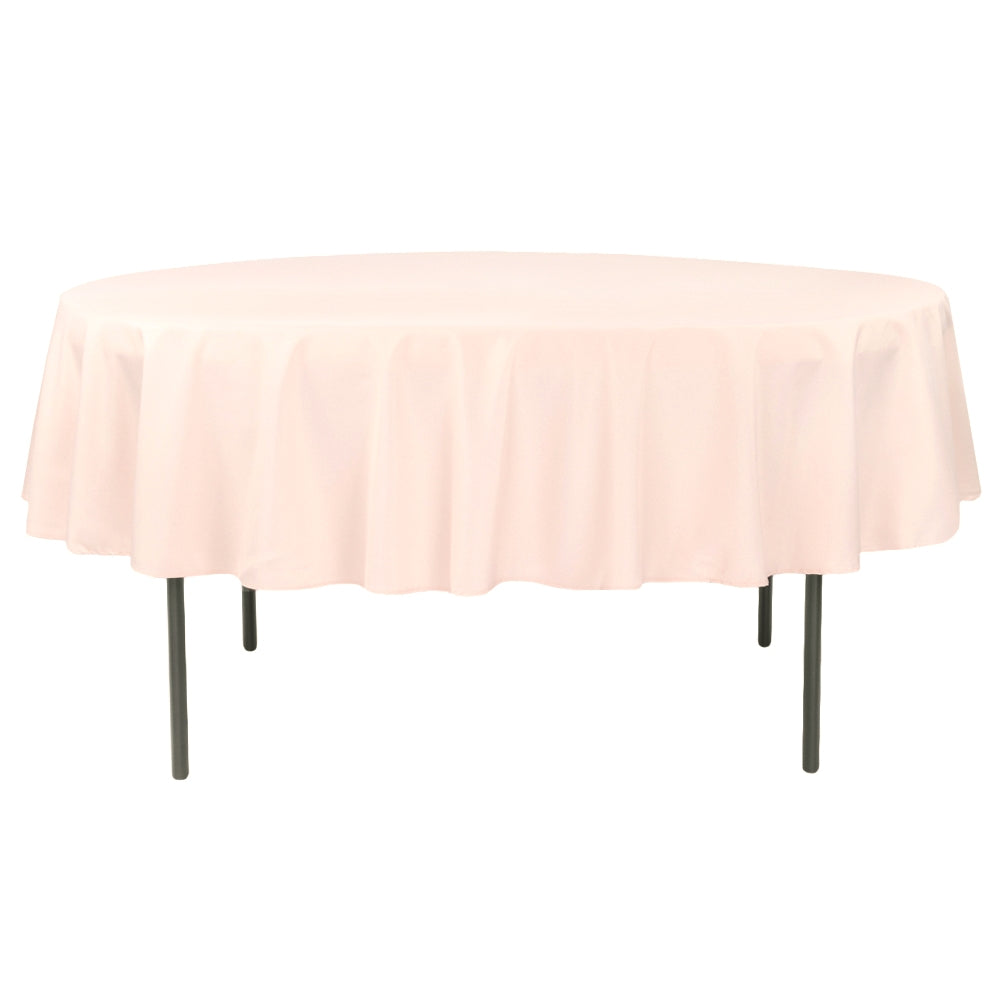 "Economy Polyester Tablecloth 90"" Round - Blush/Rose Gold"