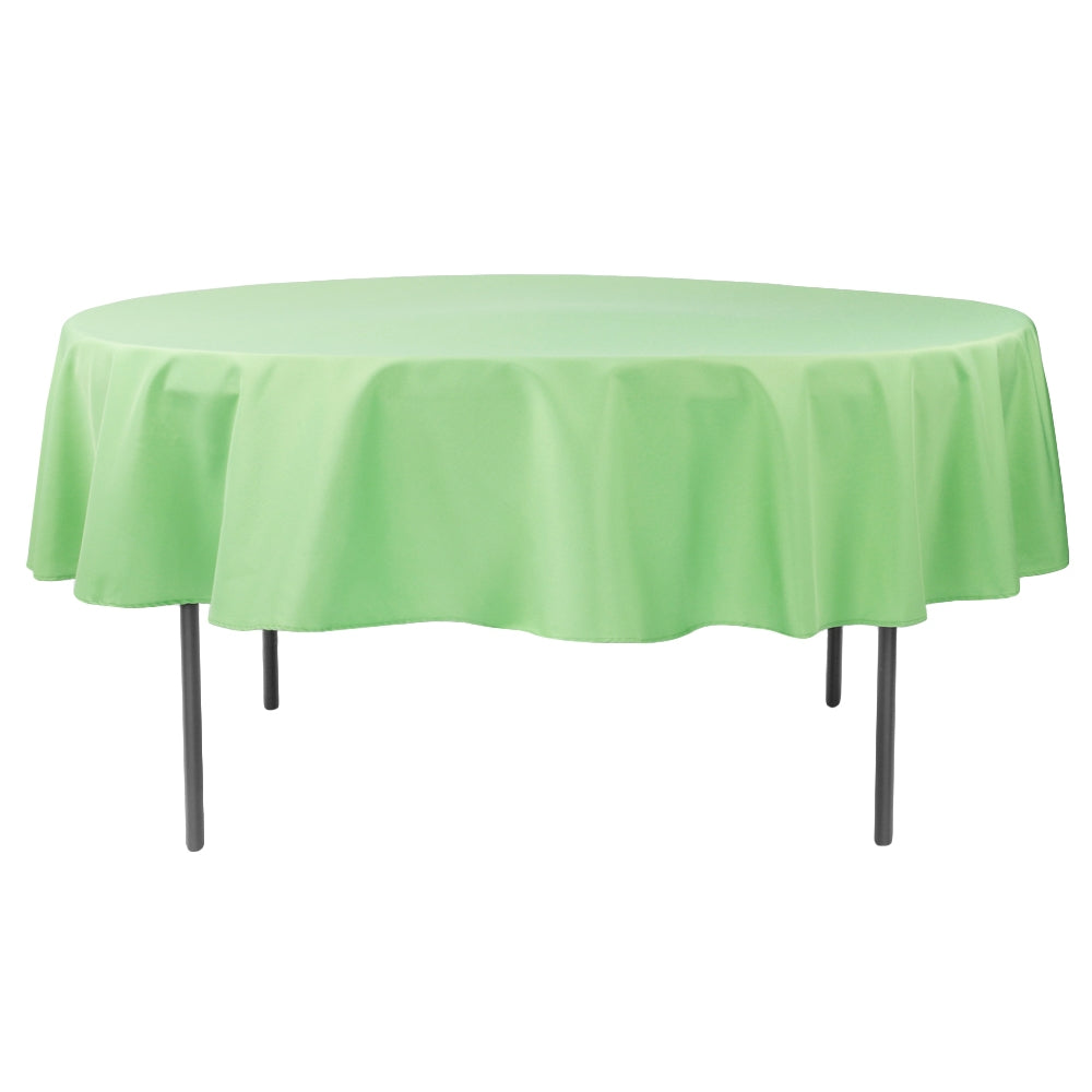 "Polyester 90"" Round Tablecloth - Clover"