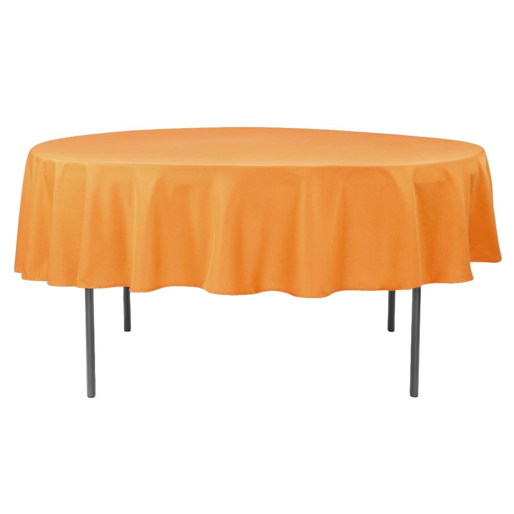 "Polyester 90"" Round Tablecloth - Orange"