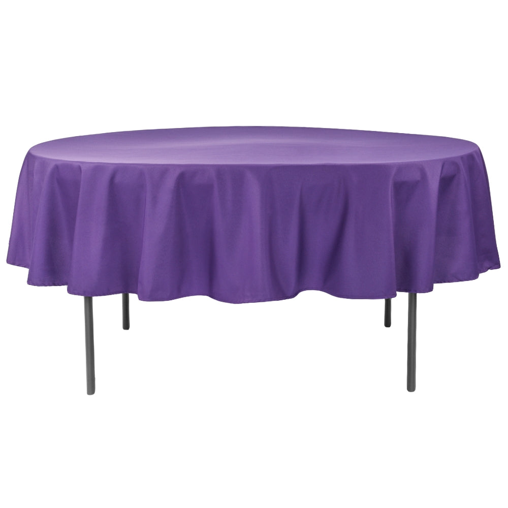 "Polyester 90"" Round Tablecloth - Purple"