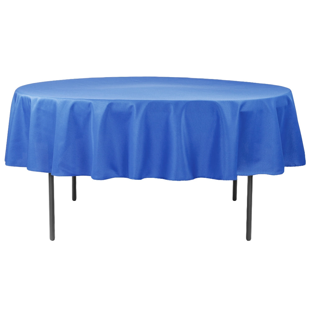 "Economy Polyester Tablecloth 90"" Round - Royal Blue"