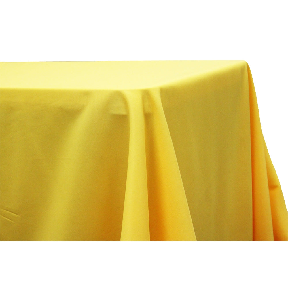 "90""x132"" Rectangular Oblong Polyester Tablecloth - Canary Yellow"