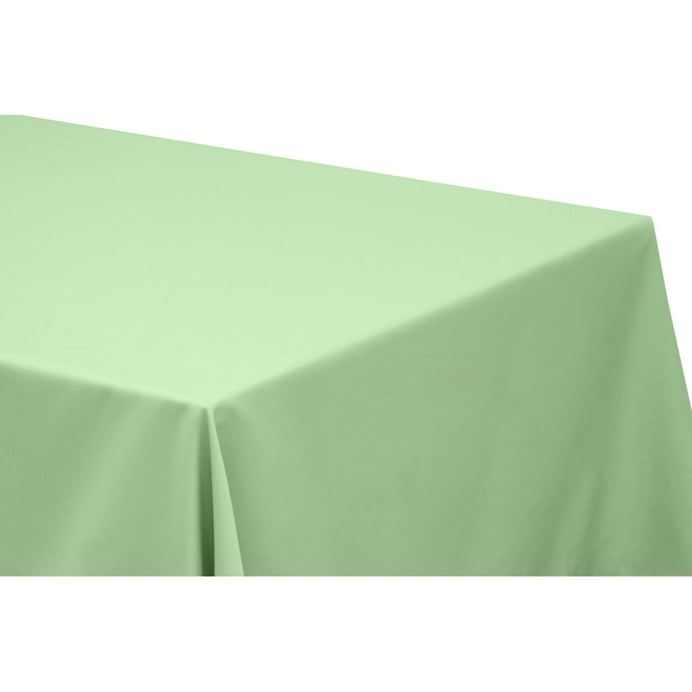 "90""x156"" Rectangular Oblong Polyester Tablecloth - Mint Green"