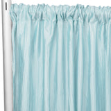 "Accordion Crinkle Taffeta 10ft H x 54"" W Drape/Backdrop Panel - Baby Blue"